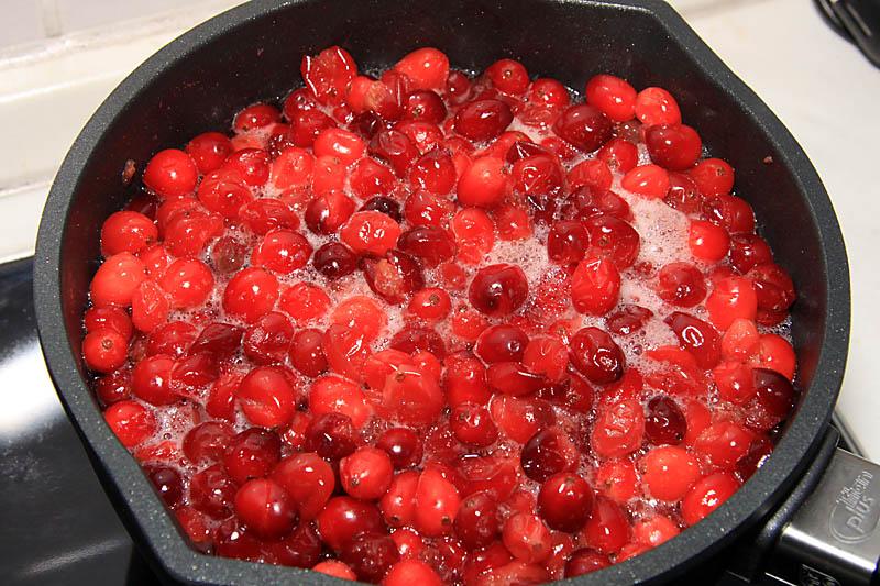 Cranberries kochen ein