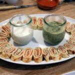 Lachstaler mit Graved-Lachs-Soße