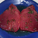 Thunfischsteaks in Marinade