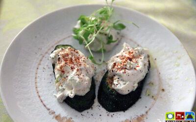 Zucchini mit Salbei-Zwiebel-Dip