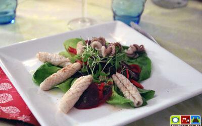Calamaretti an Rote-Bete-Salat