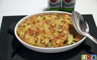 Kartoffel-Zucchini-Auflauf, aromenreich