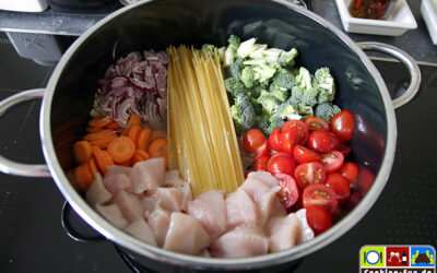 One Pot Pasta mit Huhn