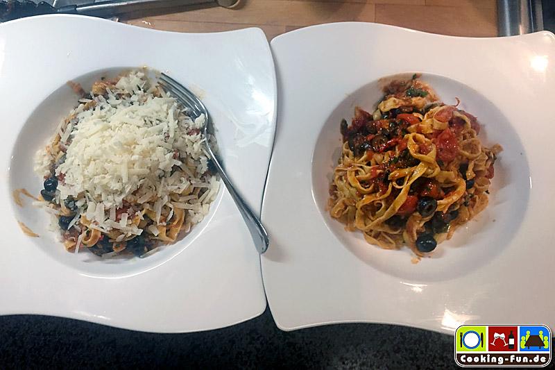 Schnell, italienisch, mjammy – 3 Gänge mit Salat