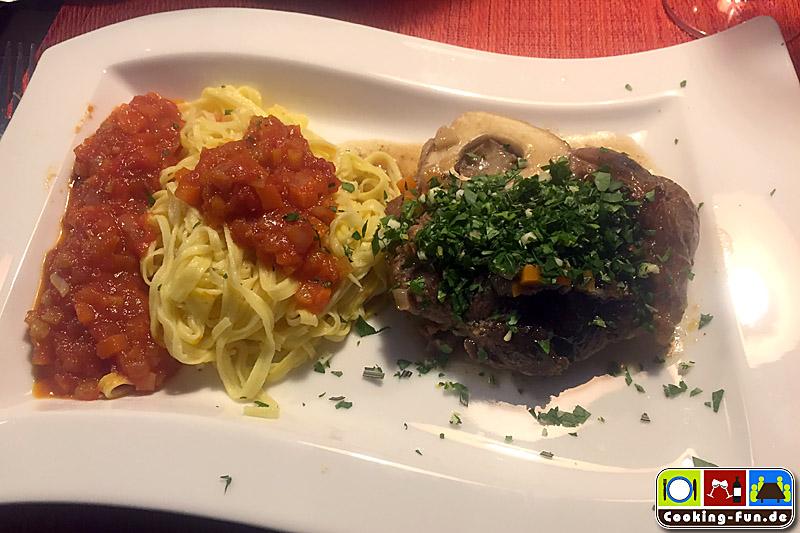 Ossobuco alla milanese, Gremolata, Tagliatelle e Salsa