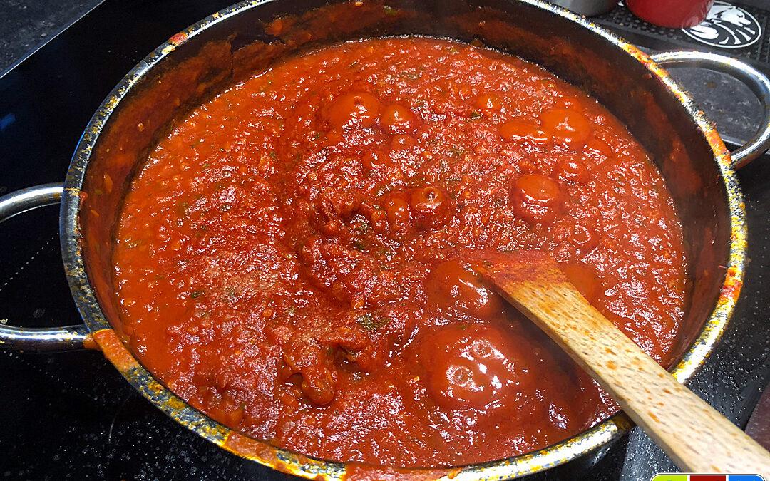 Tomatensauce für Pizza und Nudeln